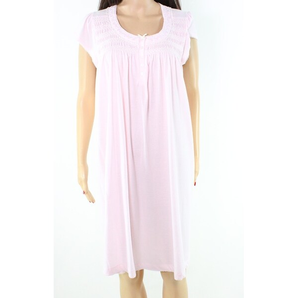 Miss Elaine NEW Pink Embroidered Lace Medium M Gowns Sleepwear Dress ...