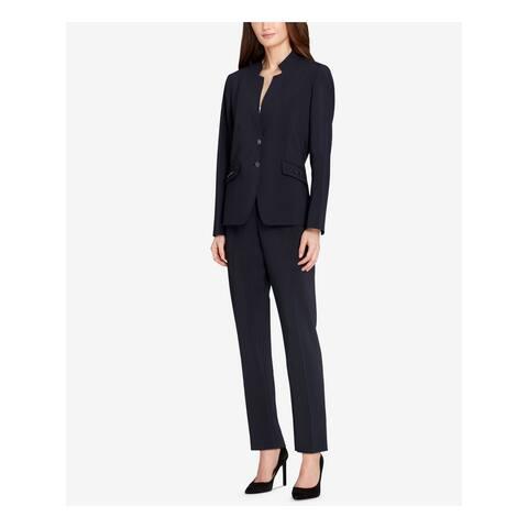 TAHARI Womens Navy Wear to Work Jacket Size 14
