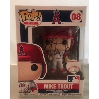 Mike Trout Autographed Los Angeles Angels Signed Baseball Funko Pop PSA DNA COA 1