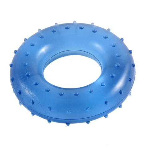 Nonslip Rubber Massage Hand Grip Ring for Stress Relieve and Strength Blue