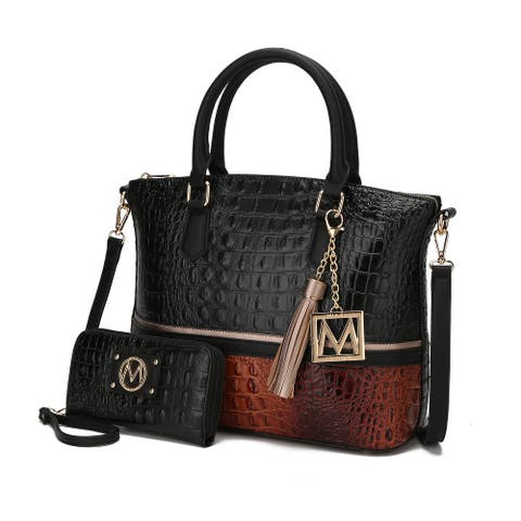 MKF Collection Sophie Croco Skin Tote Bag with Wallet by Mia k.