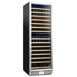 Kalamera 157 Bottle Compressor Wine Cooler Refrigerator Dual Zone with Touch Control