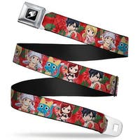 Fairy Tail Guild Symbol Full Color Black White Fairy Tail 5 Chibi Seatbelt Belt Standard