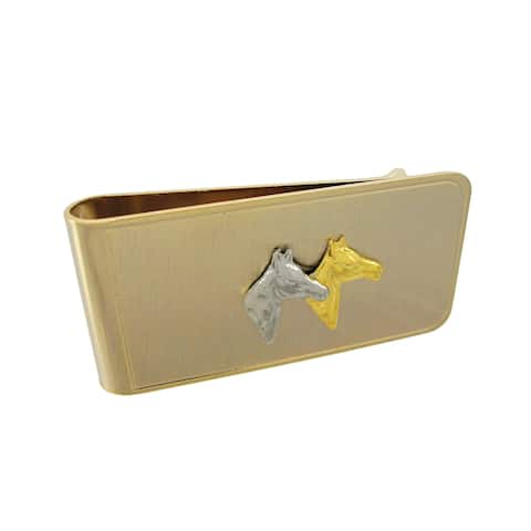Gold Plated Thoroughbred Horse Money Clip - One Size