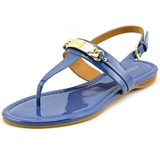 Coach Caterine Open Toe Patent Leather Thong Sandal