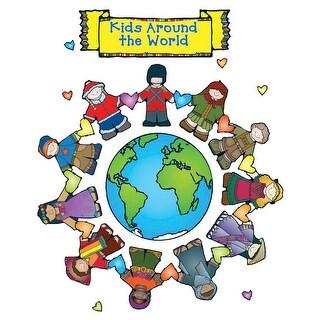 DJ Inkers Elementary School Kids Around the World Design Bulletin Board Set for Grades Pre-K2
