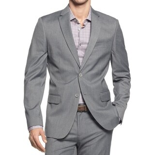 Calvin Klein Mens Two-Button Blazer Single Vent Button Closure - M