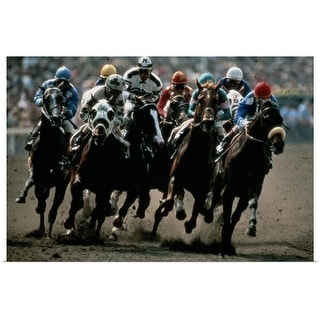 """Horse race in California"" Poster Print"