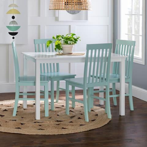 Porch & Den Pompton White and Sage Green 5-piece Dining Set