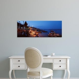 Easy Art Prints Panoramic Images's 'Varanasi, India' Premium Canvas Art