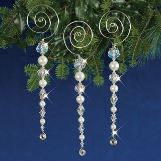 Holiday Beaded Ornament Kit-Vintage Icicles Makes 3