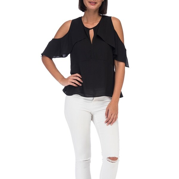 c1307e8248d86 Shop Bobeau Pamela Cold Shoulder Frill Blouse - Free Shipping On ...