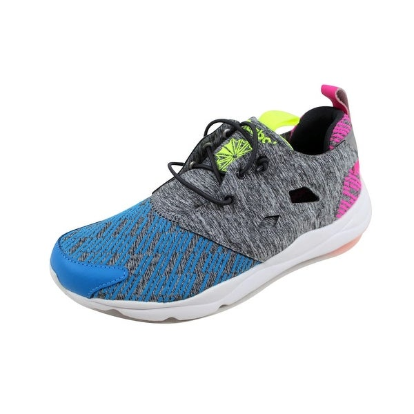 Reebok Women's Furylite Contemporary Blue/Coal-Pink-Punch-Yellow AQ9244