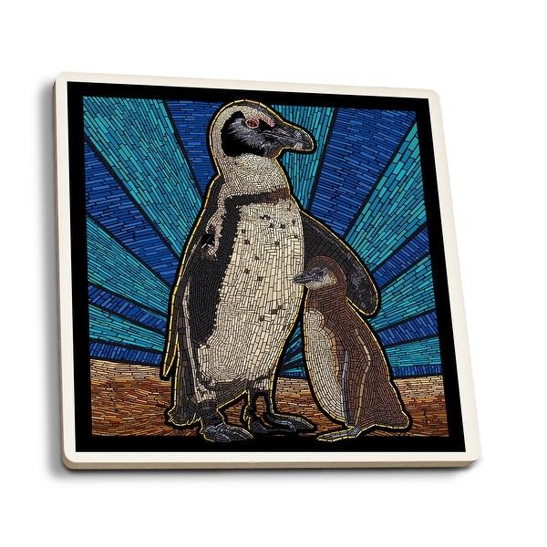 Penguin - Mosaic - LP Artwork (Set of 4 Ceramic Coasters)