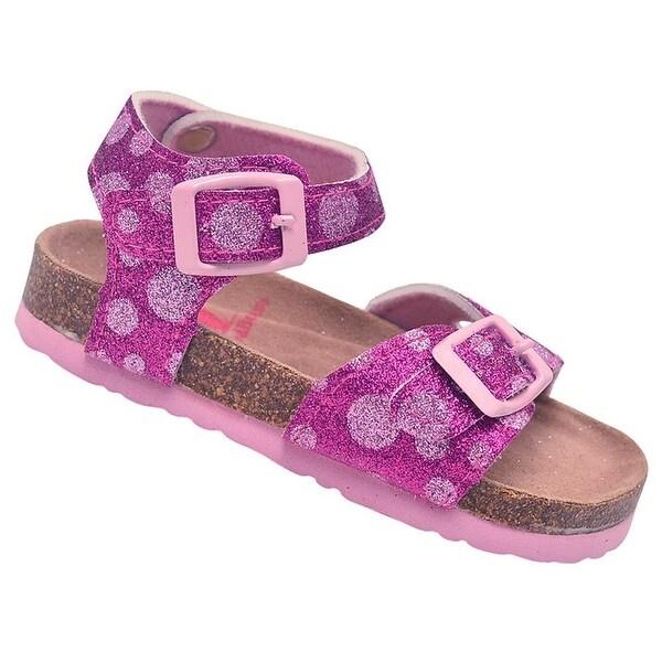 Shop Rugged Bear Little Girls Fuchsia Pink Glitter Buckle Cork Sandals - Free  Shipping On Orders Over  45 - Overstock.com - 23080655 8312456a5798