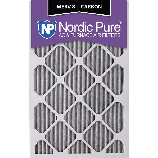 nordic pure 12x20x1 pleated merv 8 plus carbon ac furnace air ...