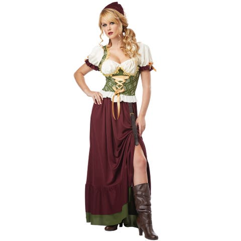 California Costumes Renaissance Wench Adult Costume - Red/Green