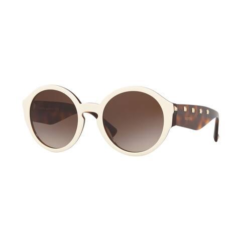 Valentino VA4047 512413 52 Ivory/havana Woman Round Sunglasses