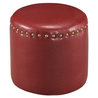 Link to The Curated Nomad Barbossa Faux Leather Round Ottoman Similar Items in Living Room Furniture