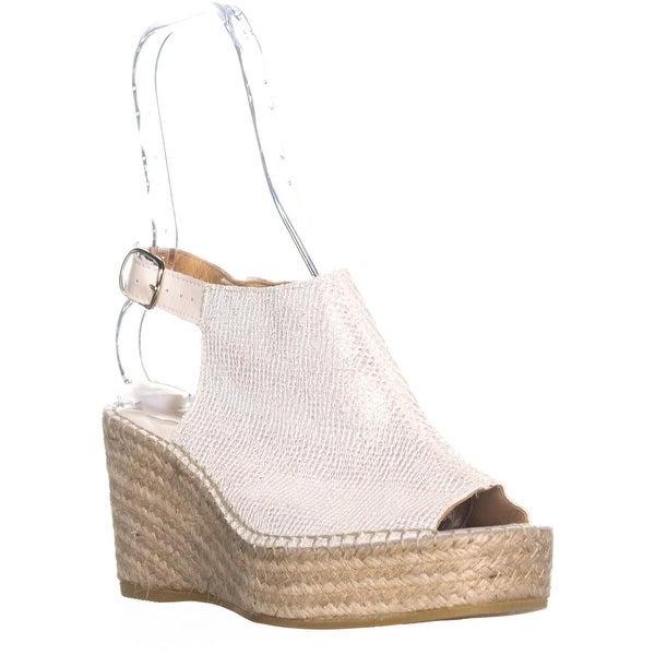 Andre Assous Lina Wedge Espadrille Sandals, Platino - 9 us / 40 eu