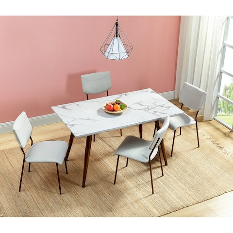 Kandy Dining Table with Marble Pattern