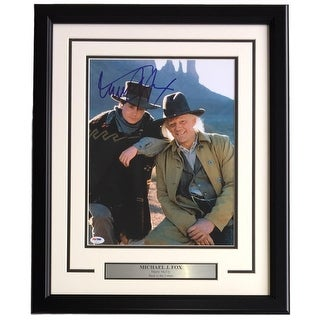 Michael J. Fox Signed Framed 11x14 Back To The Future Photo PSA Hologram U73093