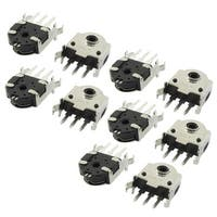 Unique Bargains 10 Pcs Tactile Push Button Switch 3 Terminals 14.6mmx10mmx5.2mm