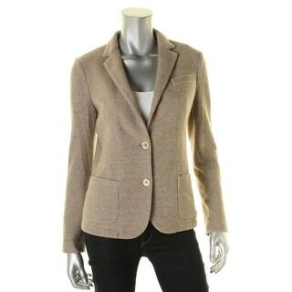 Eleventy Womens Two-Button Blazer Wool Textured