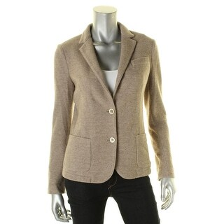 Eleventy Womens Two-Button Blazer Wool Textured