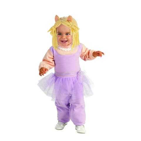 The Muppets Romper Miss Piggy Baby Costume - Purple