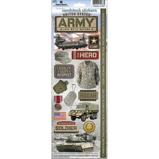 "Army - Paper House Cardstock Stickers 4.625""X13"""