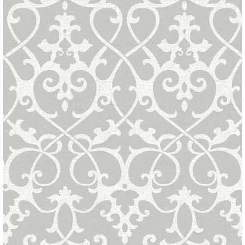 Brewster 2625-21866 Axiom Grey Ironwork Wallpaper