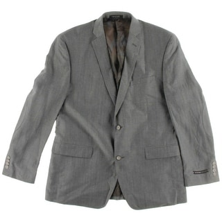 Andrew Marc Mens Linen Wool Blend Two-Button Suit Jacket - 42R