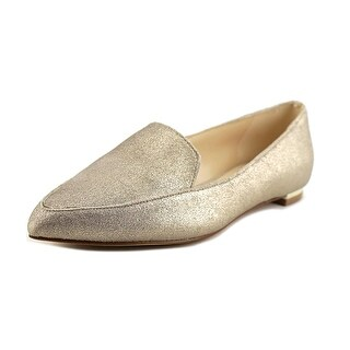 Nine West Abay Women Pointed Toe Leather Gold Flats (Option: 7.5)