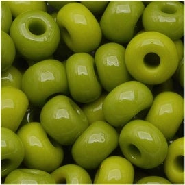 Czech Seed Beads 6/0 Olive Green Opaque (1 Ounce)