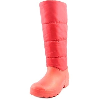 Dirty Laundry Puffy Women Round Toe Canvas Red Snow Boot