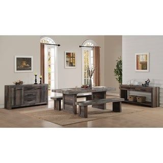 Link to Carbon Loft Bluford Reclaimed Wood 82-inch Dining Table Similar Items in Dining Room & Bar Furniture