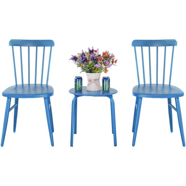Shop Costway 3Pcs Outdoor Bistro Round Table Chair