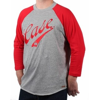 Case IH Men's Embroidered Script Logo Baseball Shirt (More options available)