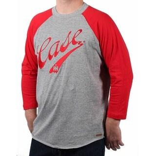 Case IH Men's Embroidered Script Logo Baseball Shirt