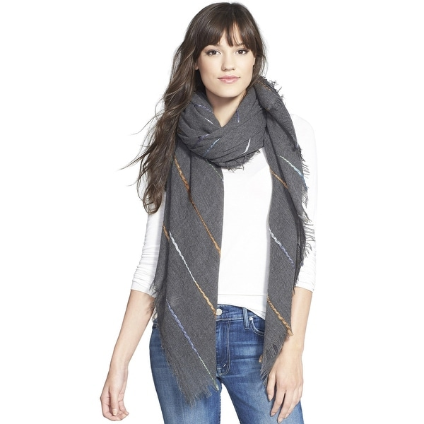 ECHO DESIGN Womens Roving Spacedye Grey Wrap Scarf