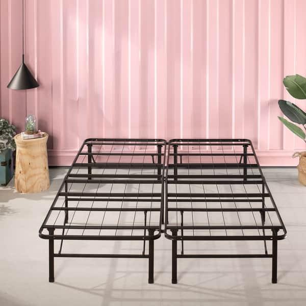 Priage By Zinus Smartbase Zero Assembly Mattress Foundation 14 Inch Metal Platform Bed Frame On Sale Overstock 11724651