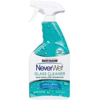 Rust-Oleum 293122 NeverWet Auto Glass Cleaner, 22 Oz