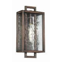 "Craftmade Z9814 Cubic 17"" Wall Sconce with Clear Water Glass Shade - Aged Bronze Brushed - N/A"