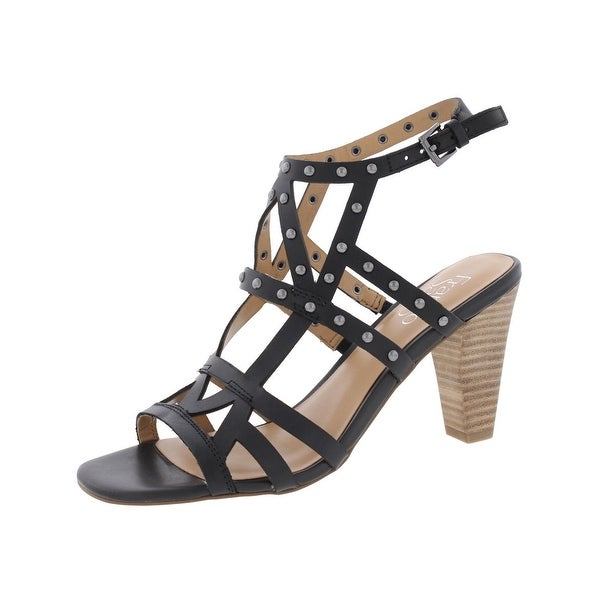 Franco Sarto Womens Calesta Heels Leather Studded