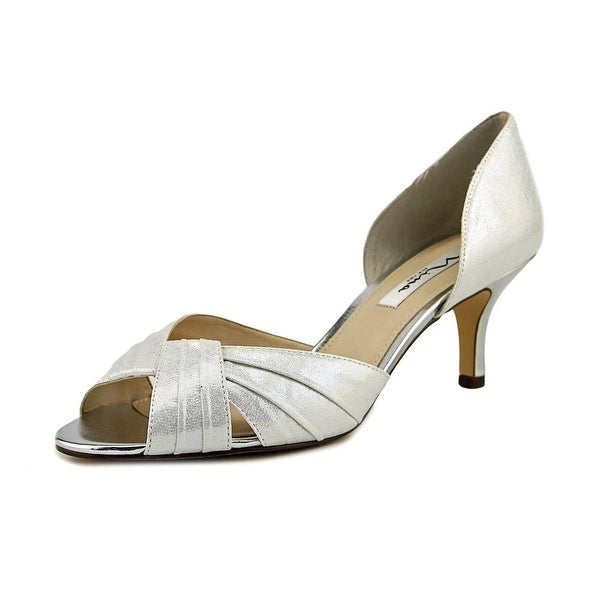 Nina Cadine Women Open Toe Canvas Silver Sandals