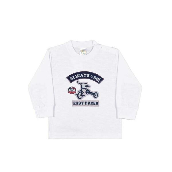 Baby Boy Shirt Long Sleeve Graphic Tee Infant Newborn Pulla Bulla 3-12 Months