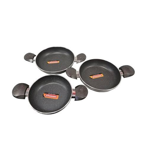 SavaHome Omelette Pan Set 3 PCS Black