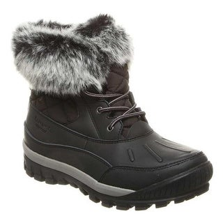 Bearpaw Women's Becka Leather Boot Black/Grey Leather