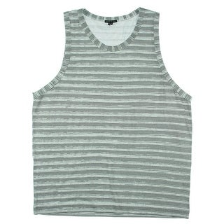 Theory Mens Striped Scoop Neck Tank Top - XL